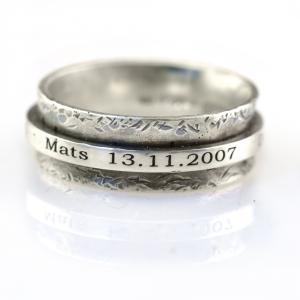 Robuuste Spinner Ring met Namen