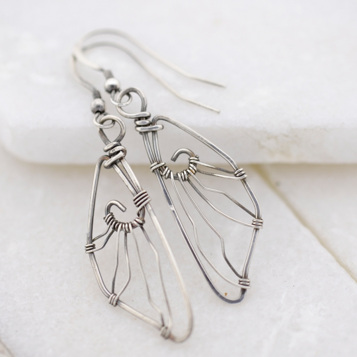 Fairy Wings Oorbellen Zilver