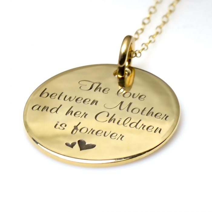 14K Gouden Munt - The love between Mother and her Children is forever
